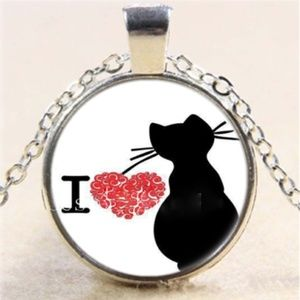 Necklace- NEW- I Love My Cat Heart